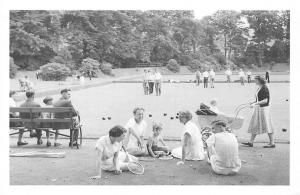 Works Club Bowls 1952 steelworkers and families playing bowls, Nostalgia Reprint
