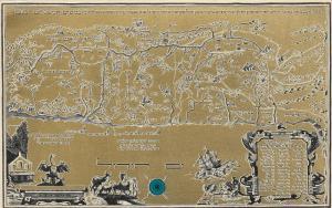 ISRAEL, 40-60s; ZIM Navigation Company Map