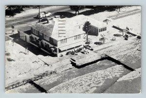 St Petersburg FL, Holiday Beach Apartments, Aerial, Florida, Chrome Postcard