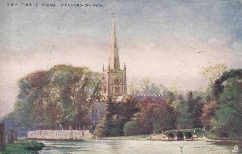 TUCK #774, Holy Trinity Church, Stratford-On-Avon, Warwickshire, England, Uni...