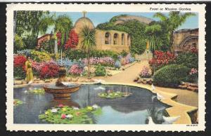Mission Garden Pond San Juan Capistrano California Unused c1948