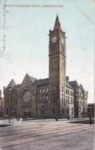 Street view,  Union Passenger State,  Indianapolis,  Indiana,  PU_1907