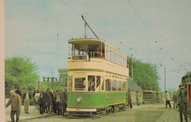 Blackpool Royal Oak 40 Bus Town End Tram Crich Tramway Museum Postcard