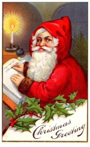 Santa Claus , Red Suit , Christmas greetings