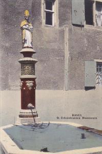 Basel , Switzerland , 00-10s ; St. Urbansbrunnen Blumenrain
