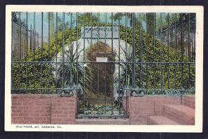 Washington's Old Tomb Mt Vernon VA unused c1920