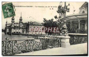 Old Postcard Enghien les Bains Casino seen from the pier