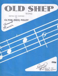 The Old Sheep Song Clyde Red Foley 1940s Sheet Music