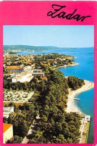 Croatia Zadar Beach Plage Aerial view Panorama