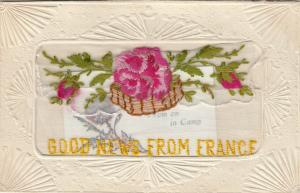 Hand Sewn, 1900-10s; Good News from France, Large pink rose