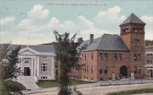 New Hampshire Franklin Public Library And Opera House 1908