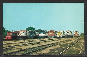 Red White & Blue Locomotives Trains - [MX-484]