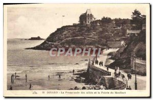 Old Postcard Dinard La Promenade des Allies and Pointe du Reel