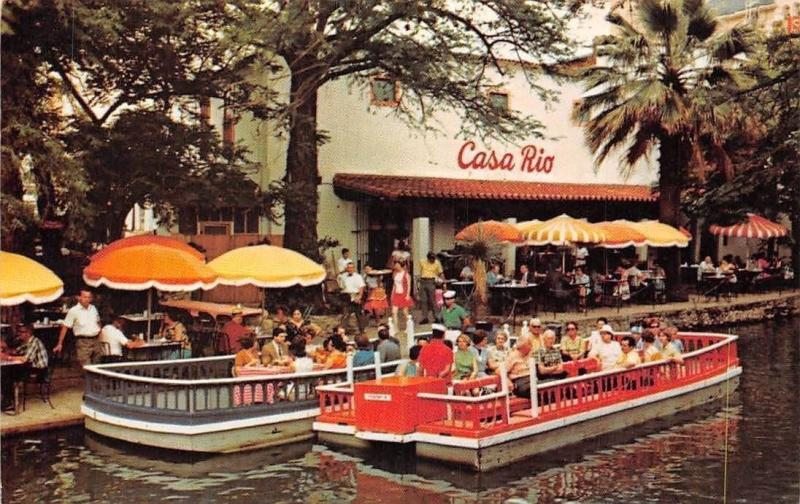 USA Famous Casa Rio Mexican Restaurant Terrace, San Antonio Texas