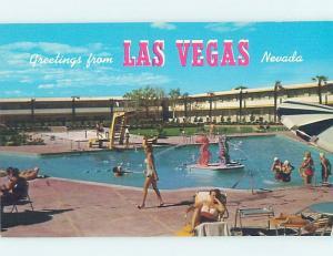 Pre-1980 DUNES CASINO HOTEL SWIMMING POOL Las Vegas Nevada NV G9859