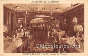 Leconte De Lisle, La Salle a Manger Des 1 Classes Messageries Maritimes Ship ...