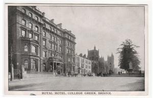Royal Hotel College Green Bristol United Kingdom UK postcard