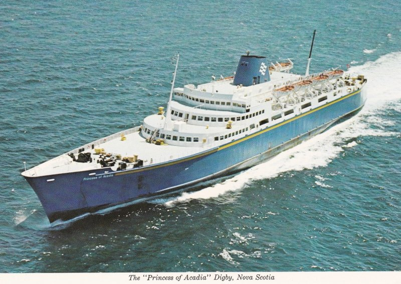 Car Ferry PRINCESS OF ACADIA , St John N.B. to Digby N.S. , Canada , 50-70s