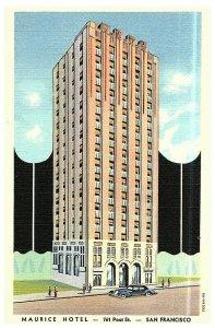 Maurice Hotel San Francisco Kalifornien Postkarte SA-H1332