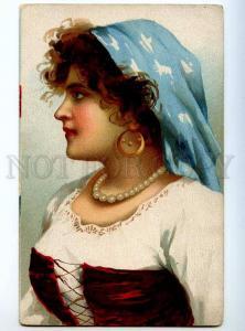 234481 Italy ITALIAN Girl BELLE Dancer Vintage Color postcard