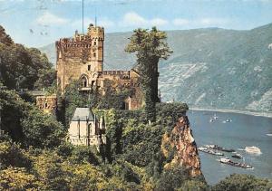 Assmannshausen am Rhein Burg Rheinstein, Castle River Boats Bateaux Chateau