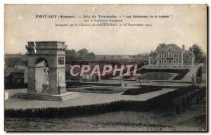 Old Postcard Proyart Arc De Triomphe To Defenders Of The Somme
