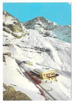 Switzerland-Jungfraujochbahn-Train-Eiger-Glacier-Alps-Vtg-Postcard-4X6