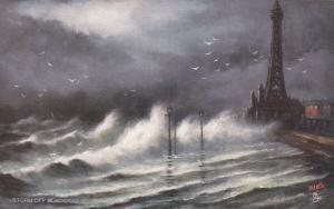 BLACKPOOL , England, 1900-1910's; Rough Seas ; TUCK 6649
