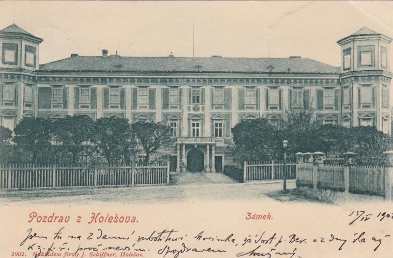 ZAMEK, Czech Republic, PU-1902; Pozdrav z Holesova