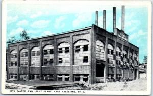 East Palestine, Ohio Postcard CITY WATER AND LIGHT PLANT Building View c1920s