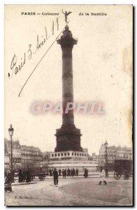 Old Postcard Paris Bastille Column