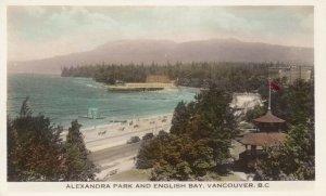 RP: VANCOUVER , B.C. , Canada , 1910s ; Alexandra Park & English Bay