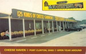 Port Clinton Ohio 1970-80s Postcard Cheese Haven Meat & Cheese Shop