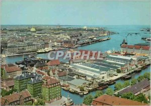 Postcard Modern Copenhagen View over the Harbor Yacht