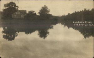 Deerfield NH Lampery River c1915 Real Photo Postcard