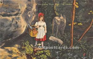 Rock City Gardens, Tennessee, TN, USA Postcard Little Red Riding Hood Unused