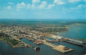 Pensacola Florida~Municipal Pier and Civic Auditorium~1960s Postcard