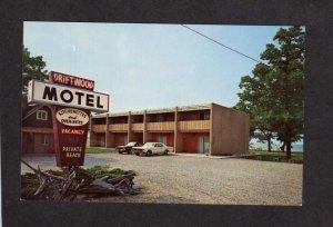 MI Driftwood Motel Traverse City Michigan Postcard Grand Bay Joseph Agnes Brosch