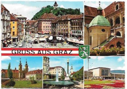 Austria - Osterreich.  Five beautiful scenes