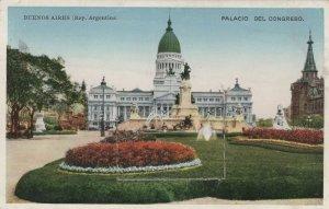 Buenos Aires Palacio Del Congresso Folding Novelty Mailing Postcard