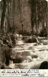 Vtg Tarjeta Postal 1907 Ashland Creek Cascadas - Ashland, O Udb