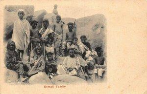 Somalia Somali Family ethnic postcard