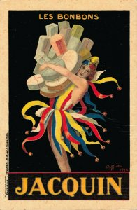 Leonetto Cappiello - Les Bonbons Jacquin - Advertising Postcard - 04.12