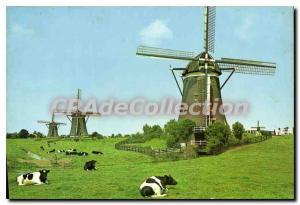 Postcard Modern Ledschendam Holland