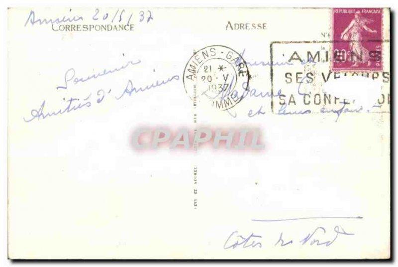 Old Postcard Amiens Walk on Water I