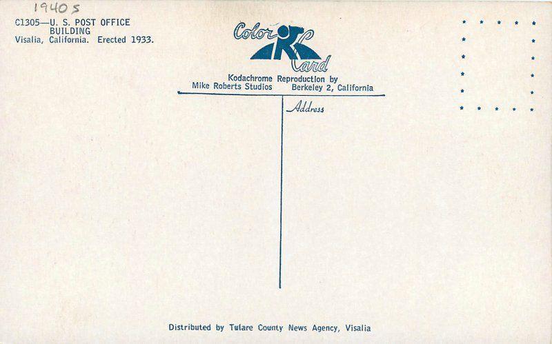 1940s US Post Office Building Visalia California Roberts Tulare County 8203