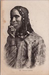 Woman Femme Lahobe Africa Unused Postcard E32