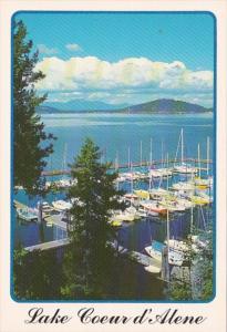 Idaho Lake Coeur d' Alene Marina With Sailboats