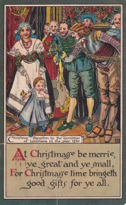 CHRISTMAS, PU-1920; Recepton by Governor of Louisiana in the year 1710, Rhyme