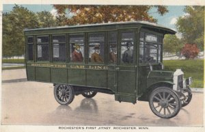 ROCHESTER , Minnesota , 1910s ; Jitney Bus